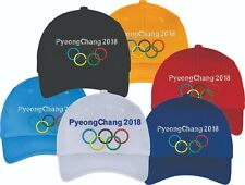 Pyeongchang 2018 Winter Olympic Embroidered Hat Cap CLOSEOUT