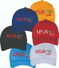 TEAM USA Pyeongchang 2018 Winter Olympic Embroidered Hat Cap CLOSEOUT