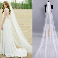 Elegant White/Ivory 2M Long Wedding Bridal Veil Cathedral Length With Comb