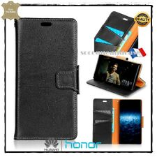 Housse Coque Cuir Véritable Genuine Leather Wallet Case cover Huawei Honor 10