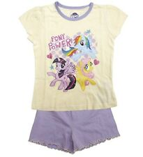 Girls My Little Pony Pyjamas Short Summer Purple Lilac Yellow 4 - 10 Years