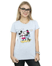 Disney Mujer Mickey and Minnie Mouse Kiss Camiseta