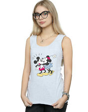 Disney Mujer Mickey and Minnie Mouse Kiss Camiseta Sin Mangas