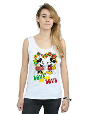 Disney Mujer Mickey and Minnie Mouse Hippie Love Camiseta Sin Mangas