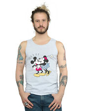Disney Hombre Mickey and Minnie Mouse Kiss Camiseta Sin Mangas