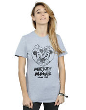 Disney Mujer Mickey and Minnie Mouse Since 1928 Camiseta Del Novio Fit