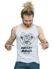 Disney Hombre Mickey and Minnie Mouse Since 1928 Camiseta Sin Mangas