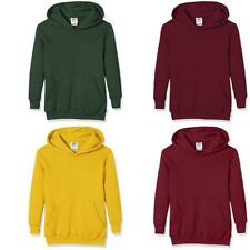 Fruit of the Loom Pull-Over Classic Hooded Sweat, Felpa Bambino - NUOVO