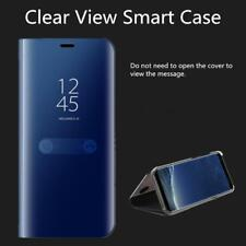 Clear View Smart Mirror Case  For Galaxy S8 S9 S6 S7 Edge Plus Note 8 5 Flip Sta