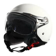 CDH Casque Demi Jet Scooter Blanc Brillant