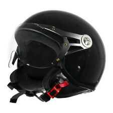 CDH Casque Demi Jet Scooter Noir Brillant