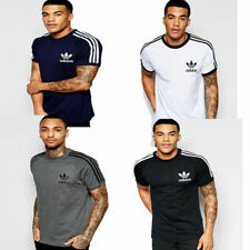 Mens Adidas Originals Trefoil California Tees Crew Neck Retro Gym T Shirt Top