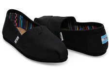 New Women Authentic Toms Classic slip - on Canvas Black on Black Shoes All Sizes