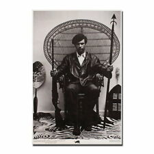 137810 Huey Newton Seated In A Wicker Chair   Rare Wall Print Poster Affiche