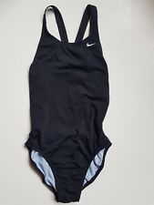 New Nike Solid Black Racer Back Swimsuit Swimwear SE21