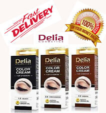 DELIA COSMETICS Henna Color Cream For Eyebrow Black /Dark Brown /Brown