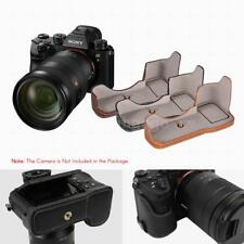 PU Leather Case Bottom Camera Half Open Cover For Sony ILCE9 A9 A7III/7RIII N8J4