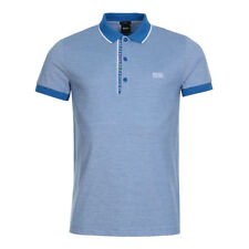 New Mens BOSS Green  Paule 4 Polo Shirt - Bright Blue  Short sleeve  Collared