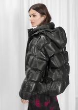 & Other Stories (H&M Group Down Padded Shiny Puffer Jacket Coat Hood EU 38 UK 12