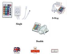 Infrared Radiation Receiver Single Double 5Way with 24 Keys Remote Controller UK