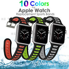 Sports Band Silicone Bracelet Strap Replacement for Apple Watch iWatch 38mm/42mm