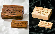 Personalised Wooden Engraved 8 16 32 64 128GB USB 2.0 3.0 Memory Stick+Box Gift