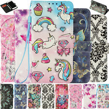 Magnetical 3D Print Pu Leather Wallet Stand Case Phone Cover For Various Phones