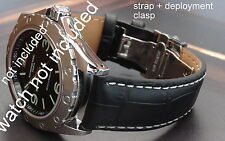 QUALITY THICK REPLACEMENT DEPLOYMENT LEATHER STRAP BAND FOR Jaeger LeCoultre