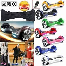 "6.5"" Eléctricos Patinete E-Scooter LED Hoverboard Skateboard + Bolso Mando YB"