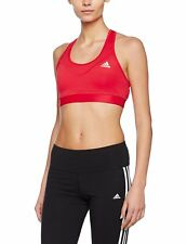 Adidas Womens Ladies Sports Climachill TF Solid Bra Top Gym Training Fitness Red
