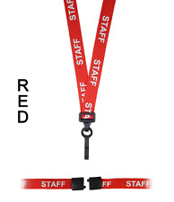 EVENT STAFF lanyard black//orange 15mm with safety breakaway for ID /& keys.