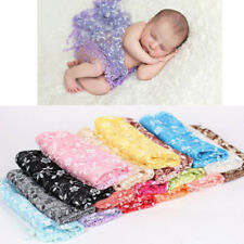 Newborn Baby Photography Props Blanket Scarf Wraps Embroidery Lace Prop Costume