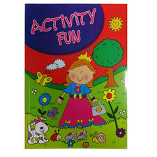 A4 Activity Book - 60 Pages - Boys (Farm, Pirates) or Girls (Fairy, Animal)