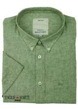 MAXFORT SHIRT MAN SHORT SLEEVE PLUS SIZE  1262 GREEN