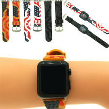 Flag Watch Band For 38mm 42mm Apple Watch iWatch Soft Silicone Replacement Strap