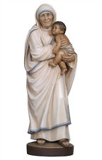 Mother Teresa of Calcutta statue wood carving - made in Italy