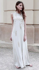 H&M CONSCIOUS EXCLUSIVE Mulberry Silk Glass Bead Grecian Dress Wedding 10 12 /38