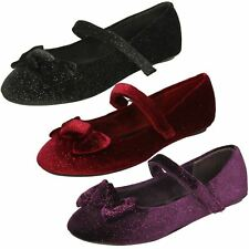 Girls Spot On Party Shoes With 'Bow Detail'