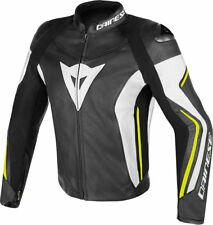Giacca in pelle  Dainese Assen nero giallo