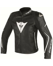 Giacca in pelle  Dainese Assen nero bianco