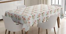 Flower Garden Tablecloth by Ambesonne 3 Sizes Rectangular Table Cover Decor
