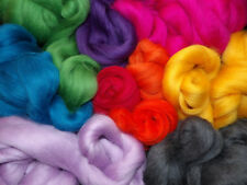 Corriedale Dyed Wool Tops 25g Needle Felting Spinning Textile Art & Craft UK