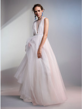 H&M Conscious Exclusive White Tulle Full Wedding Dress Gown 8 10 12 14 16