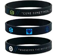 (12-pack) Medical Inspirational Wristbands w/ Hippocrates' Quotes & Medical