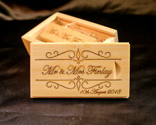 16GB 32GB 64GB USB 2.0 USB 3.0 Personalised Wooden Bamboo Engraved with Box Gift