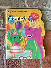 New Unused Vintage 1993 Barney and Baby Bop 1st Coloring Book Golden Books