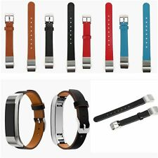 Genuine Leather Watch Wrist Strap Band for Fitbit Alta Activity& Sleep Tracker