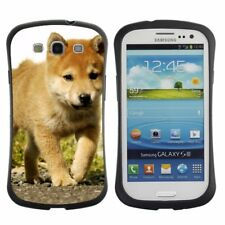Anti-Drop Shockproof Heavy Duty Case For Samsung Red Akita Inu puppy walking