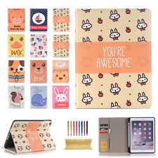 Cartoon Pattern Smart Leather Stand Filp Case Cover For iPad 9.7'' 2018/2017 Pro