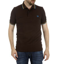 Fred Perry Mens Twin Tipped Polo Shirt  Short Sleeved Top M1200-940